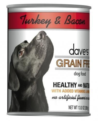 Dave's Grain Free Turkey & Bacon Canned Dog Food