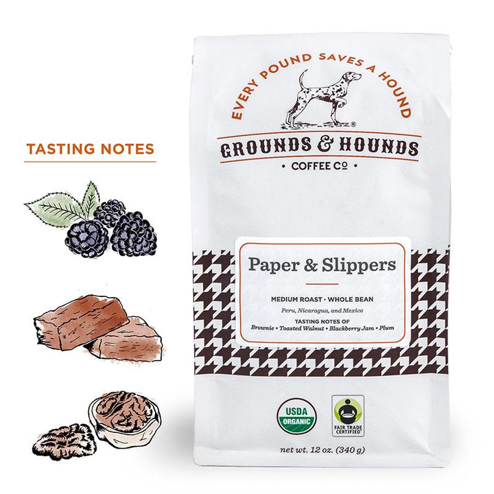 Grounds & Hounds Coffee Paper & Slippers Blend