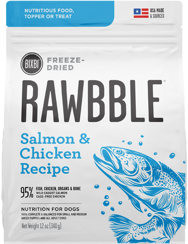 Bixbi Rawbble Freeze-Dried Salmon & Chicken Recipe