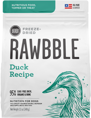 Bixbi Rawbble Freeze-Dried Duck Recipe