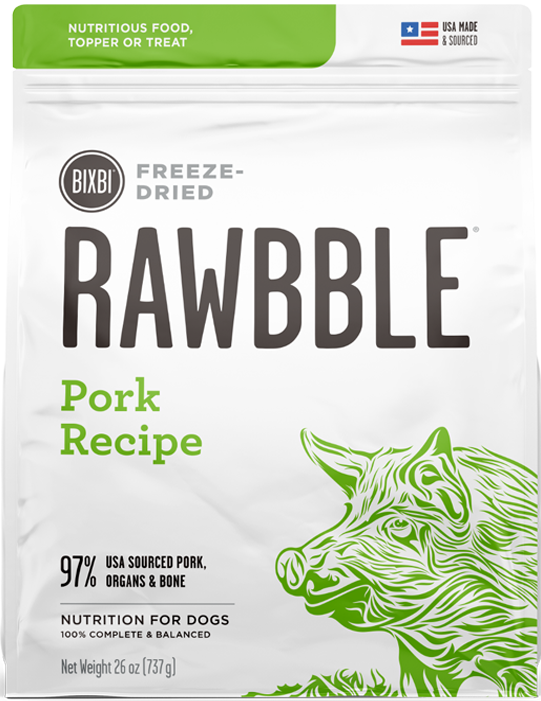 Bixbi Rawbble Freeze-Dried Pork Recipe