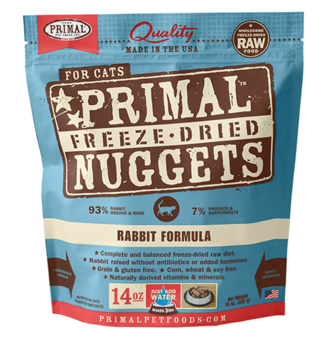 Primal Freeze-Dried Rabbit Formula for Cats