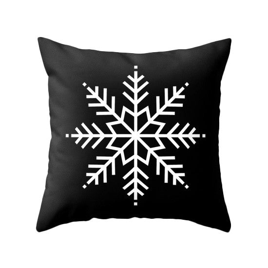 Red Christmas pillow Snow flakepillow Red Christmas decor Xmas pillow Christmas decoration Red Christmas cushion Red Xmas pillow red pillow - Latte Design  - 2