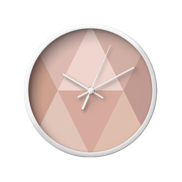 Blush geometric wall clock - Latte Design  - 3