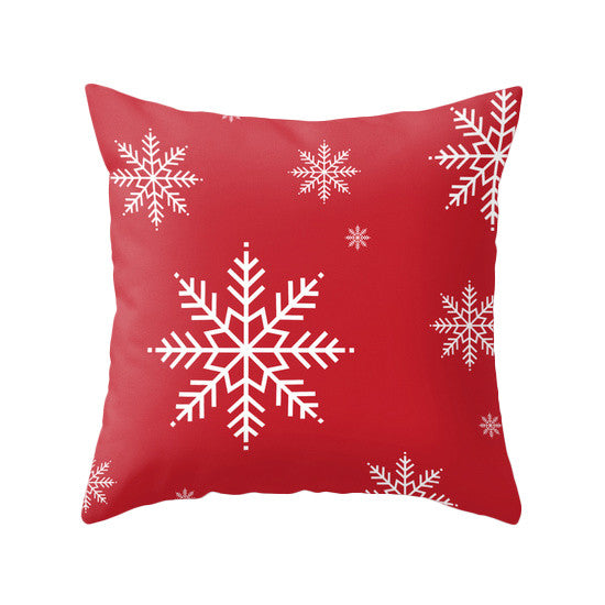 Merry Christmas. Red Christmas pillow Snow flakepillow Red Christmas decor Xmas pillow Christmas decoration Red Christmas cushion Red Xmas pillow red pillow - Latte Design  - 3