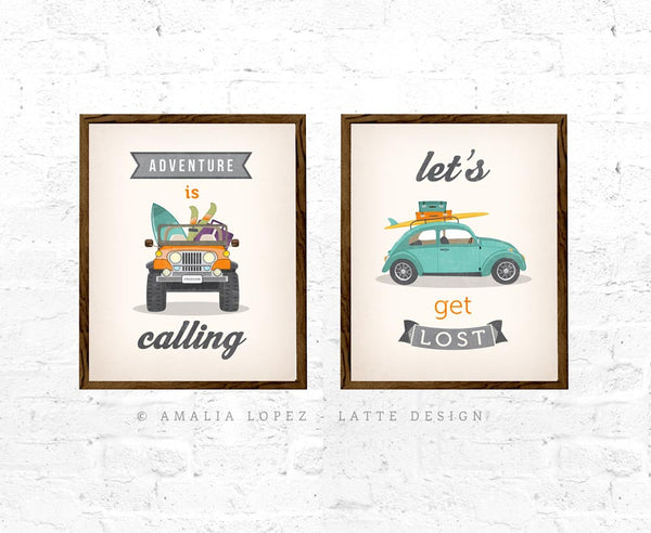 Adventure is calling. Jeep print. LD10013 - Latte Design  - 3