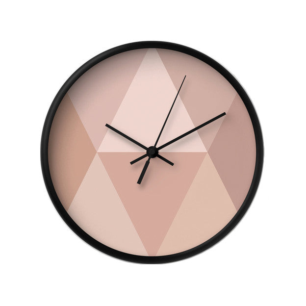 Blush geometric wall clock - Latte Design  - 2