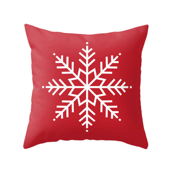 Red Christmas pillow Snow flakepillow Red Christmas decor Xmas pillow Christmas decoration Red Christmas cushion Red Xmas pillow red pillow - Latte Design  - 1