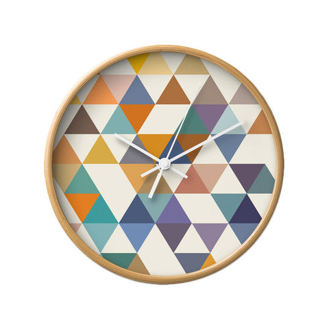 Triangles 3. Geometric wall clock - Latte Design  - 1