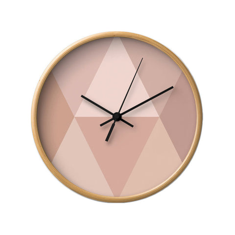 Blush geometric wall clock - Latte Design  - 1