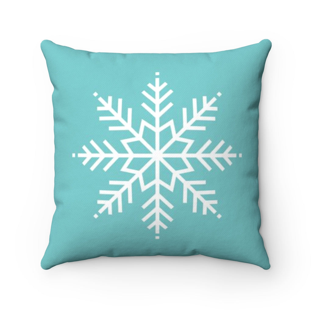 1 big snow flake turquoise Christmas