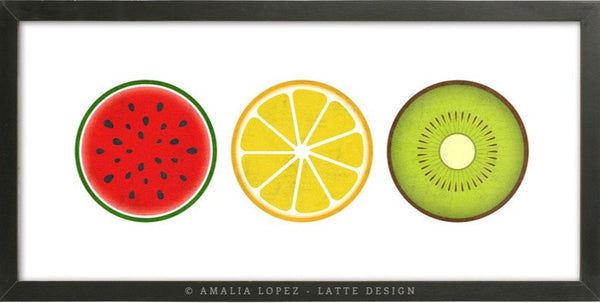 Fruits print. Kitchen print