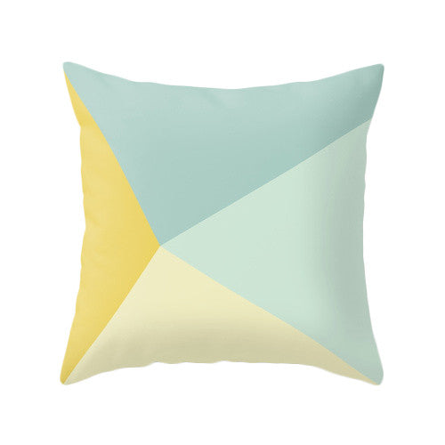 Mint and yellow cushion cover - Latte Design  - 3