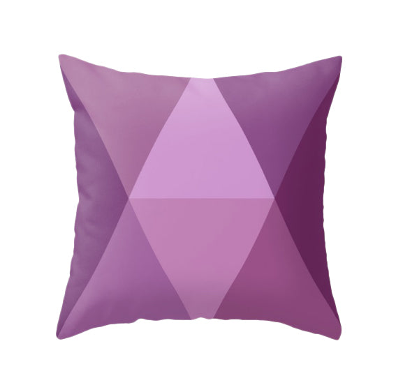 Ultra violet geometric cushion. New Pantone color 2018