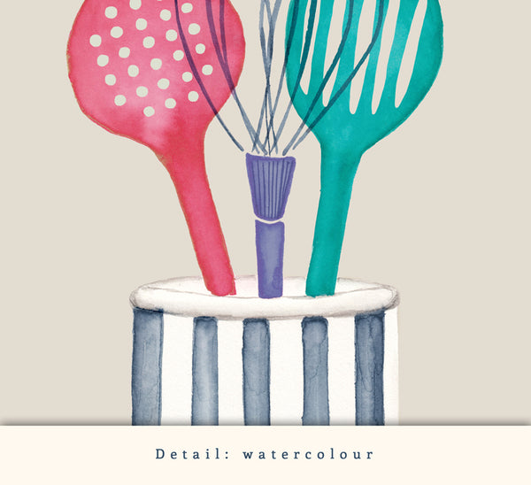 Utensils. Kitchen print
