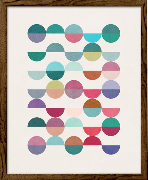 Equal Parts 1. Geometric print in teal and pink shades