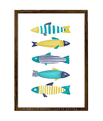 Fish 2. Kitchen print