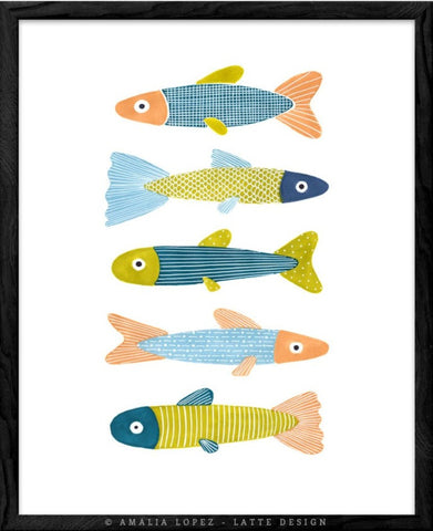 Fish 3. Kitchen print