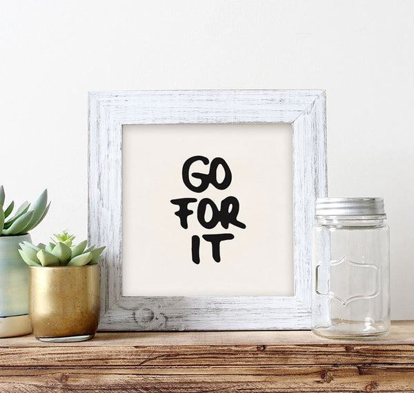 Go for it. Typography black print