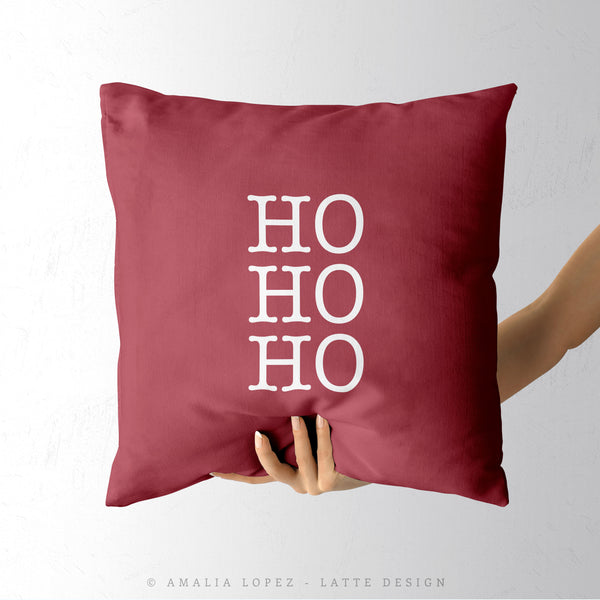 Snowflakes. Burgundy Christmas cushion