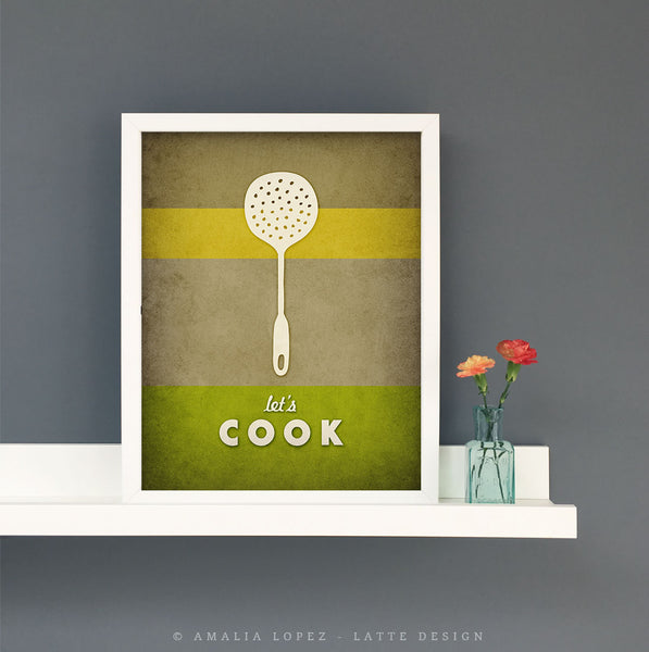 Let's cook. Green Kitchen print