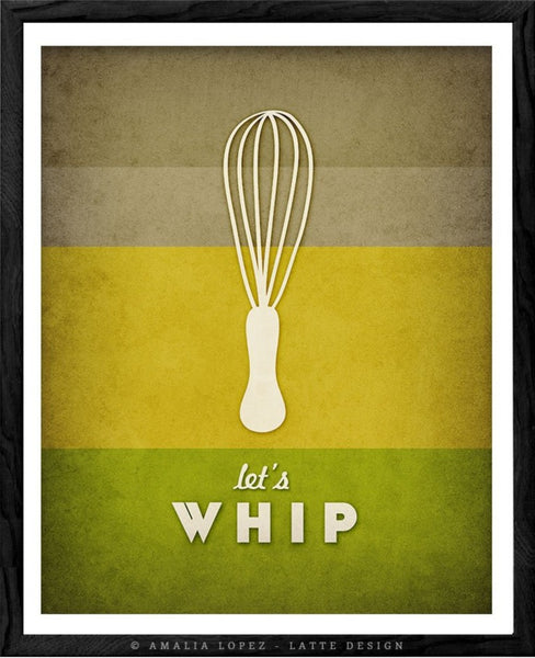 Let's whip. Green kitchen print
