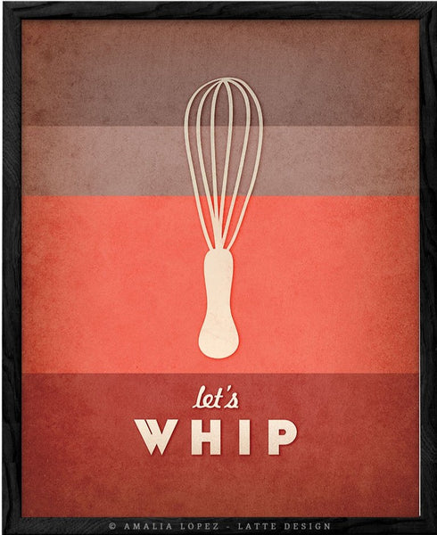 Let's whip. Red kitchen print