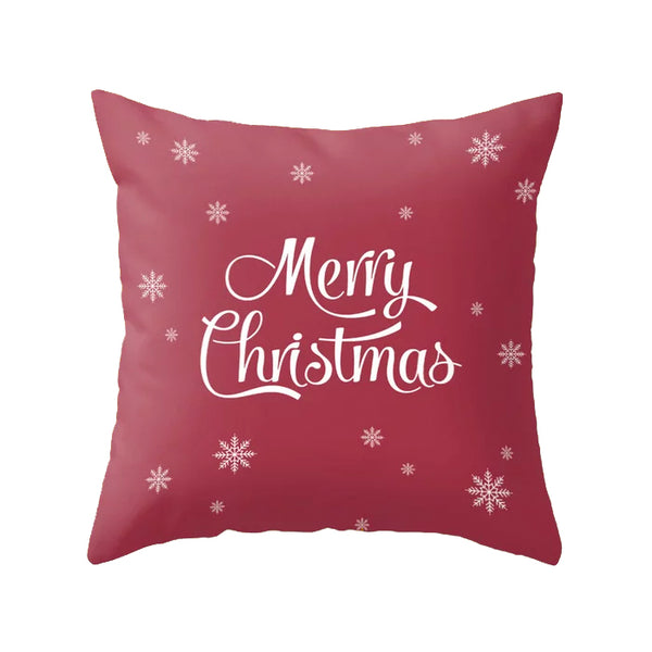Let it snow. Burgundy Christmas cushion