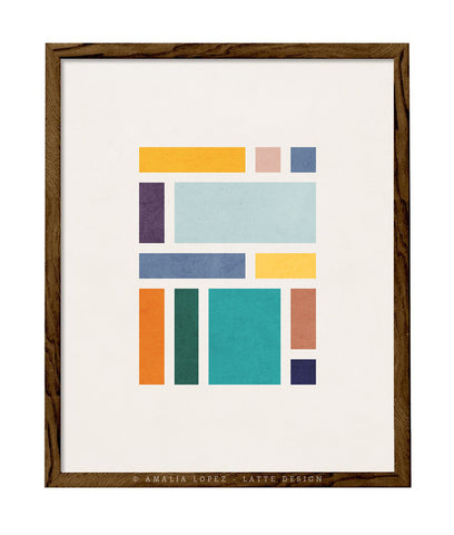 Rectangles 2. Geometric print