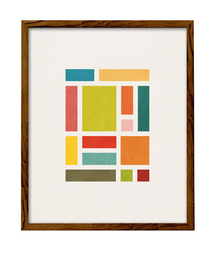 Rectangles 3. Geometric print