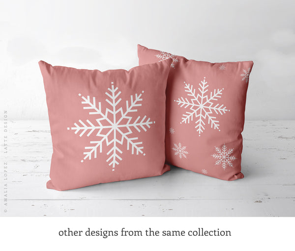Baby it's cold outside. Pink Christmas cushion