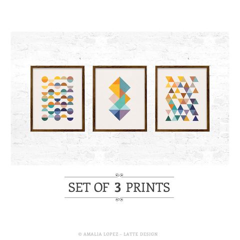 Set of 3 geometric prints
