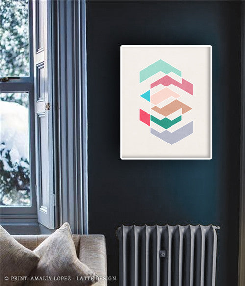Spring 1. Pink and teal geometric print - Latte Design  - 2