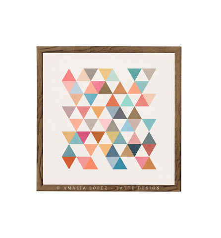 Triangles 5. Mid-century Geometric print