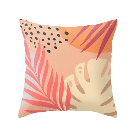 Tropical abstraction 3. Pink tropical cushion