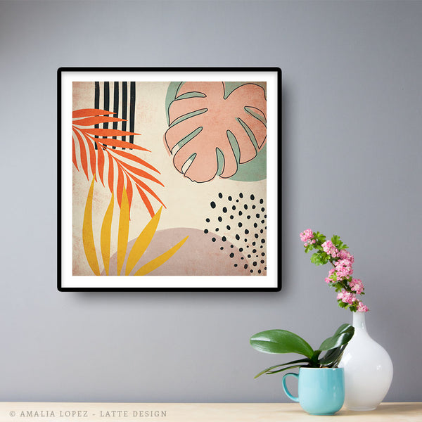 Tropical abstraction 1. Cream print