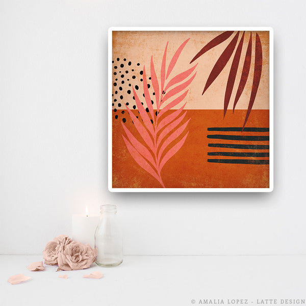 Tropical abstraction 2. Orange print
