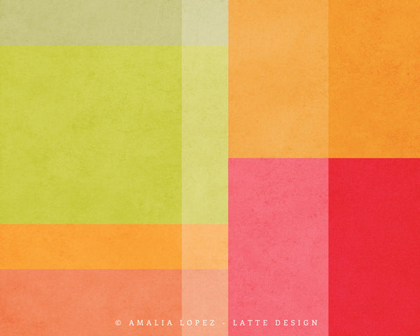Abstract 7. Green geometric print - Latte Design  - 4