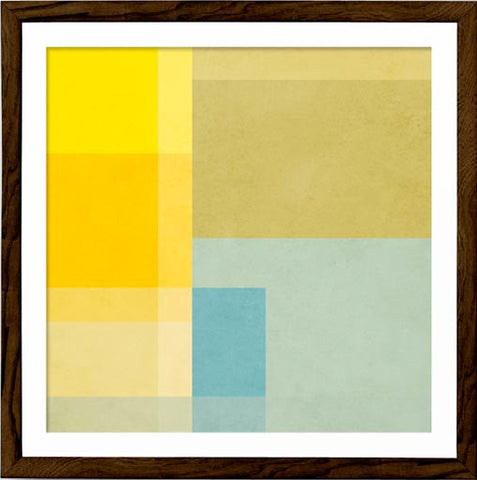 Abstract 2. Yellow geometric print - Latte Design