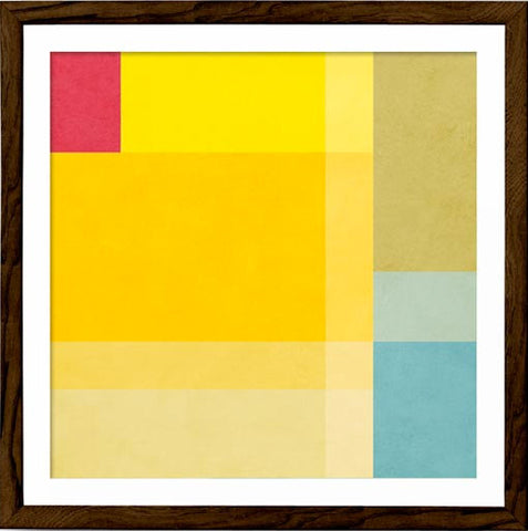 Abstract 1. Yellow geometric print