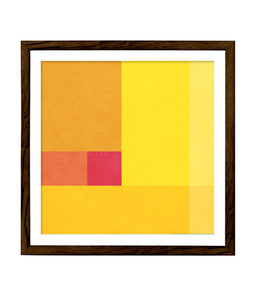 Abstract 3. Yellow geometric print - Latte Design  - 1