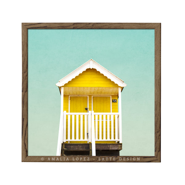 Beach hut 3. Coastal photography - Latte Design  - 2