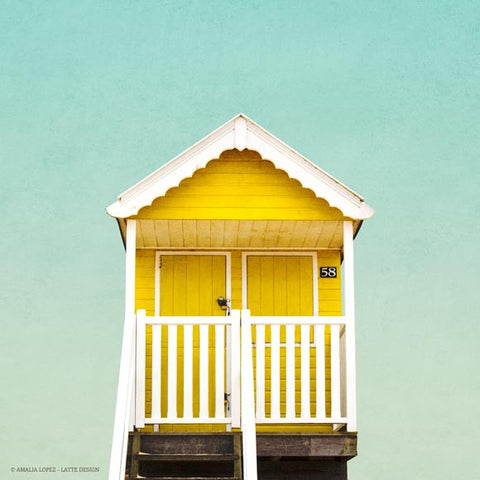 Beach hut 3. Coastal photography - Latte Design  - 1