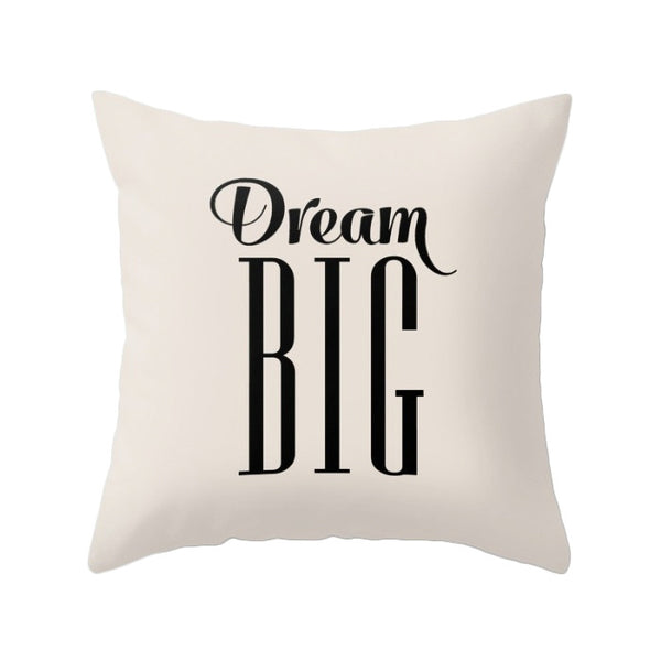 Dream big pillow cover. Gray - Latte Design  - 2