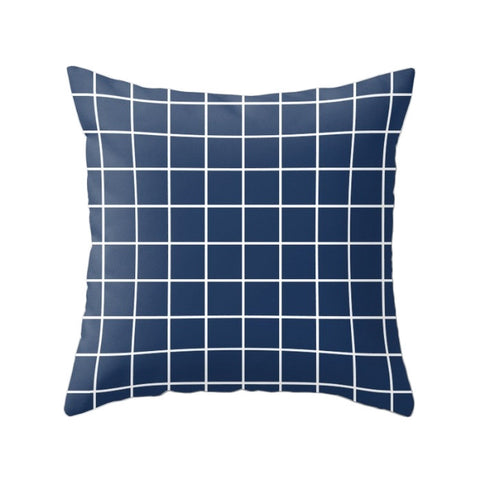 Blue Grid pillow