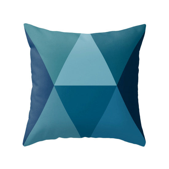 Geometric Blue pillow - Latte Design  - 1