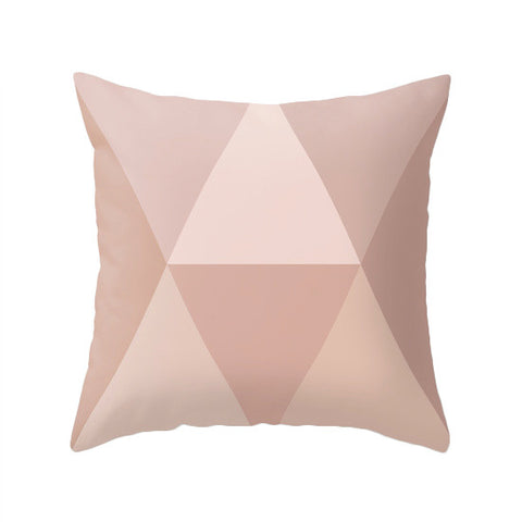 Blush geometric pillow - Latte Design  - 1