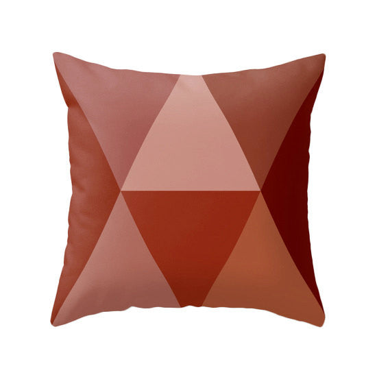 Orange Geometric pillow - Latte Design  - 4