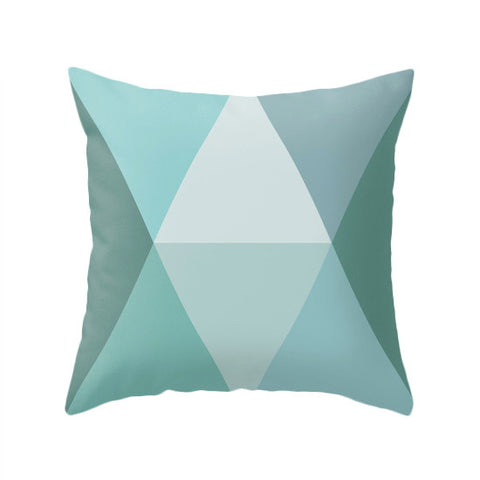 Geometric teal pillow - Latte Design  - 1