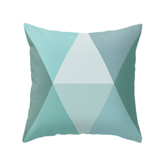 Orange Geometric pillow - Latte Design  - 3
